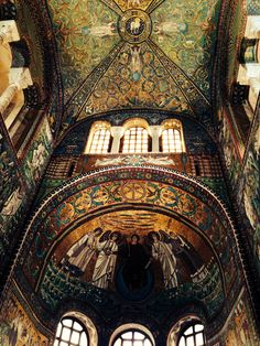 1,500 year old Byzantine mosaics in Ravenna.