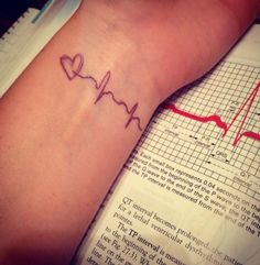 baby first heartbeat tattoo - Google Search