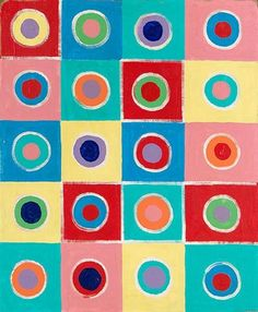 Terry Frost ~ Untitled (oil on canvas on board) Sonia Delaunay, Nadir Afonso, Creative Circle, English Artists, Paintings I Love, Sculpture, Op Art, Repeating Patterns, Color Theory