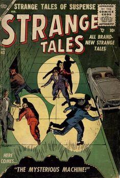 Strange Tales # 43 by Russ Heath Scary Comics, Sci Fi Comics, Horror Comics, Comic Book Artists, Comic Books, Marvel Masterworks, Tales Of Suspense, Star Trek Characters, Comic 8