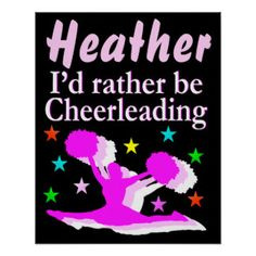PRETTY PINK PERSONALIZED CHEERLEADING POSTER Calling all Cheerleaders! Enjoy the best selection of CheerleadingTees and Gifts from Zazzle. 40% Off Posters & More 15% Off Sitewide  Use Code: ZAZSPACESALE    http://www.zazzle.com/mysportsstar/gifts?cg=196898030795976236&rf=238246180177746410 #Cheerleading #Cheerleader #Cheerleadergift #Lovecheerleading
