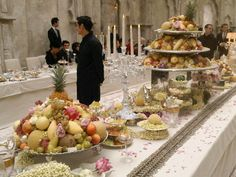 Paris Decor   Chanel Métiers D'Art Pre-Fall 2012 Paris-Bombay Decor. I want to go to this party. Holy smokes look at the food!