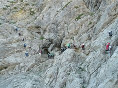 #climb #climber #climbing #crowded #iseler #jam #mountaineer #salewa klettersteig