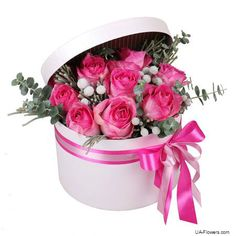 Reliable delivery of flowers in Kiev, Ukraine and all over the world. Saint Valentine, Valentines, Valentine Bouquet, Pink Rose Bouquet, Box Roses, Pink Tone, Flower Boxes, Ikebana, Beautiful Flowers