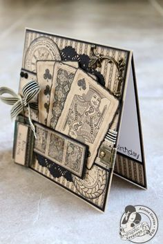 Butterfly Kisses: Masculine Birthday card using Graphic 45 Kraft Reflections