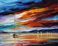 0372  Sunset Print by Leonid Afremov