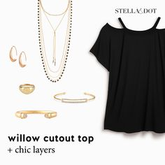 Stella & Dot's newly-launched tops look great with our jewelry and accessories. See more on my VIP FB page at https://www.facebook.com/groups/358290064532738/ or message me for details! #willowtop