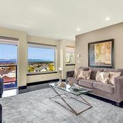 #Seattle #view home in #Phinney staged with modern furniture and clean aesthetic, allowing the mountains and Sound to be the focal point. #theuniongroup #realestate