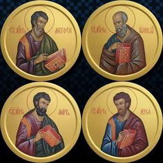 Byzantine Icons, Byzantine Art, Religious Icons, Religious Art, Monastery Icons, Marcus And Lucas, St John The Evangelist, Church Icon, Russian Icons