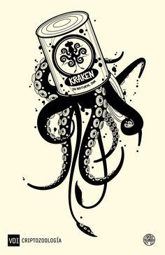 kraken in natural ink