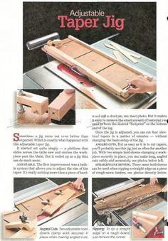 #2273 Adjustable Taper Jig Plans - Furniture Legs Construction