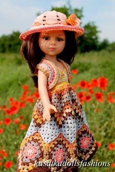 PDF Doll Clothes Crochet Pattern Provence Evening Outfit for.-PDF Doll Clothes Crochet Pattern Provence Evening Outfit for Paola Reina-type dolls By Kasatka dolls fashion PDF Doll Clothes Crochet Pattern Provence Evening Outfit for Crochet Doll Clothes, Knitted Dolls, Doll Clothes Patterns, Crochet Dolls, Doll Patterns, Hand Crochet, Clothing Patterns, Crochet Toddler, Baby Dresses