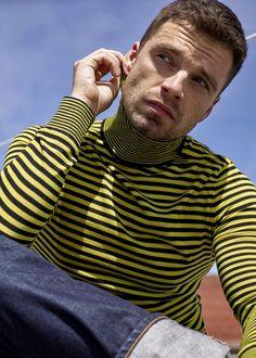 Trans Man, Sebastian Stan, Pretty Boys, Gq, First Love, Kicks, Menswear, Turtle Neck, Actors