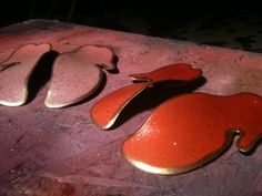 Graceyfeet custom orthoses: Orange and Pink Fades with bronze flake and edged in gold. Bronze, Cookies, Desserts, Pink, Gold, Crack Crackers, Tailgate Desserts, Deserts, Biscuits