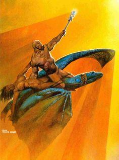Richard Corben (1940) historietista estadounidense que destaca por sus cómics de ciencia ficción y fantasía heróica.