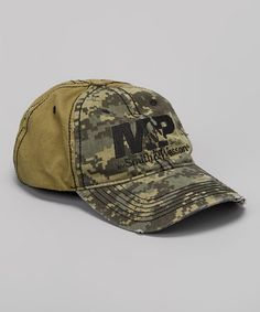 b261d7150e8069 Look at this  zulilyfind! Green Camo Smith  amp  Wesson Distressed Logo  Baseball Cap