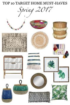 Top 10 Target Home Must-Haves: Spring 2017 favorites - Simple Stylings - www.simplestylings.com - boho - eclectic - home decor