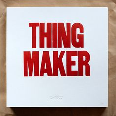 Thing Maker Poster by Official Mfg. Co.
