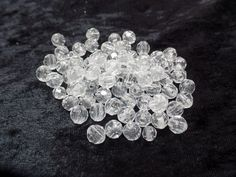 6mm Clear Craft Beads 3 oz 400ct #Faceted