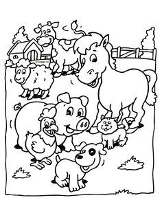 Farm Animal Coloring Pages For Preschoolers from Animal Coloring Pages category. Printable coloring pictures for kids you could print and color. Have a look at our selection and print out the coloring pictures free of charge. Chicken Coloring Pages, Coloring Pages Winter, Kindergarten Coloring Pages, Farm Animal Coloring Pages, Coloring Pages To Print, Coloring Book Pages, Coloring Pages For Kids, Drawing Lessons For Kids, Art Drawings For Kids