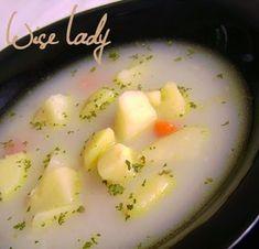 Fehér krumplileves - Anya főztje Cantaloupe, Fruit, Food, The Fruit, Meals, Yemek, Eten
