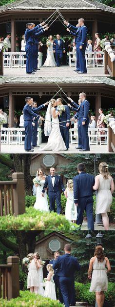 Air Force wedding ceremony, Elms Resort wedding ceremony, Elms Hotel wedding Gazebo, Kansas City weddings
