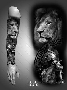 Arm tattoo design for men ✌ Forearm Flower Tattoo, Forearm Sleeve Tattoos, Best Sleeve Tattoos, Tattoo Sleeve Designs, Tattoo Designs Men, Tattoo Arm, Lion Head Tattoos, Mens Lion Tattoo, Forarm Tattoos