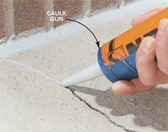 fixing concrete cracks