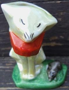 Check out Cat Mouse Hatpin Hairpin Holder Bud Vase Lustre Glaze Porcelain Vintage Japan   http://www.ebay.com/itm/Cat-Mouse-Hatpin-Hairpin-Holder-Bud-Vase-Lustre-Glaze-Porcelain-Vintage-Japan-/161687193053?roken=cUgayN&soutkn=VNSHYT via @eBay