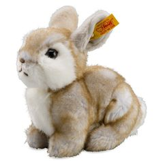 Steiff Happy Grey-Tipped Rabbit Plush | Steiff Bears and Steiff Animal Collection