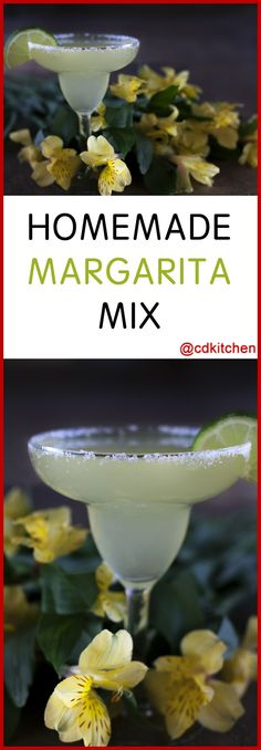 Homemade Margarita Mix - Margaritas are the perfect drink for poolside parties and summer get togethers. Keeping this make-ahead frozen mix on hand makes serving them a cinch. | CDKitchen.com