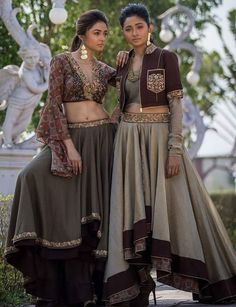 Western cut Lehengas with beautiful work and pattern.