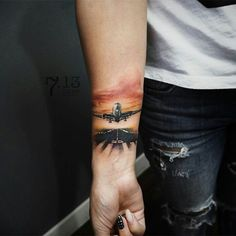 40 wanderlust tattoo designs for anyone obsessed with travel Small Neck Tattoos, Small Tattoos For Guys, Leg Tattoos, Sleeve Tattoos, Tattoos For Women, Tatoo 3d, Aviation Tattoo, Wanderlust Tattoo, Wanderlust Travel