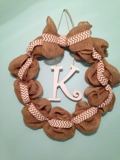 Bubble burlap wreath