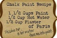 Twice Lovely: DIY Chalk Paint Dresser and Homemade Chalk Paint Recipe Chalk Paint Dresser, Chalk Paint Furniture, Painted Dressers, Whitewashing Furniture, Paint Decor, Chalky Paint, Chalk Wall, Painted Chest, Craft Paint