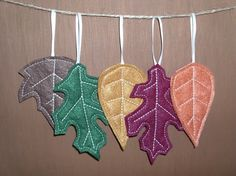Felt Leaf Ornaments