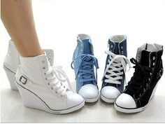 Trainers, Wedges and Platform on Pinterest