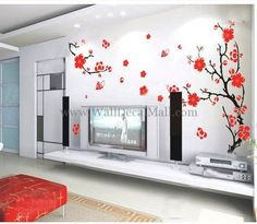 Cherry Blossom Tree Wall Decals – WallDecalMall.com