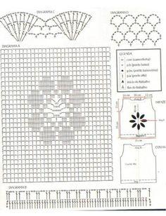 Solo esquemas y diseños de crochet: BLUSA BLANCA
