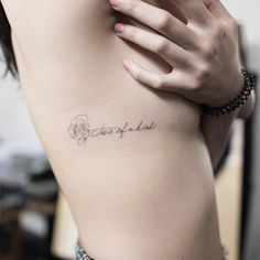 rose, inscription, side tattoo, tattoo for girl
