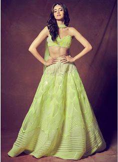 Destination & Beach Wedding Dresses - Pick comfortable lehenga & cholis for the destination wedding. Lehenga is always a classic attire for any occasion. Check out the best destination attire at Vogue India Indian Bridal Outfits, Indian Fashion Dresses, Dress Indian Style, Indian Designer Outfits, Designer Dresses, Fashion Outfits, Indian Lehenga, Lehenga Choli, Anarkali