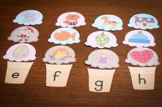 Preschool Letter H beginning sounds scoops #phonics