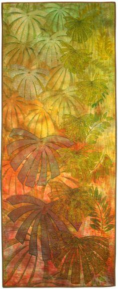 Pauline Barnes - Rainforest Canopy contemporyquilt.org