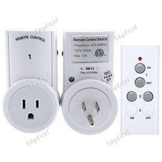TS-832-2-US 120V Wireless Energy Remote Control Socket Energy Saving Power Outlet Plug Socket Switch Set ETAAD-392205