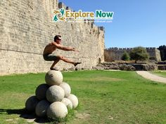 Brad taking 'pistol squats' to exciting places in The old Town of Rhodes City on Rhodes Island in Greece. Pistol Squat, Greece Islands, Crete Greece, Rhodes, Rhode Island, Old Town, Squats, To Go, Asia