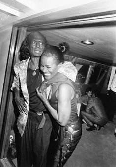 Miles Davis and Cicely Tyson celebrate Davis's 60th birthday, 1986