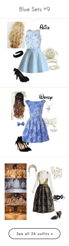"""""""Blue Sets #9"""" by briony-jae ❤ liked on Polyvore featuring Croft & Barrow, True Decadence, Chicwish, Gianvito Rossi, Decadence, RED Valentino, Glamorous, Masquerade, Disney and Vivienne Westwood"""