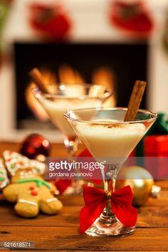 Stock Photo : Eggnog at Christmas Time