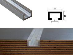 Unsere sauter Aluminium Profilschienen (C-Profile) für eine variantenreiche Anwendung mit passendem Zubehör und unabdingbar für einen selbst gebauten  Frästisch.