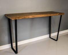 Bar Table - Reclaimed White Oak & Industrial Steel - FREE SHIPPING - Salvaged White Oak Planks Over 160 Years Old